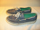 Sperry Top Sider Biscayne Womens Blue Canvas Boat Shoes US 65 M
