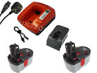2X NEW battery + charger for BOSCH GSB24VE2, GSB 24VE-2 24V Cordless Combi Drill