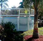 Water Warden 24 White Vinyl Above Ground Pool Fence  Gate CHOOSE SIZE