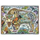 70x53 BISON Buffalo Native American Southwest Tapestry Afghan Throw Blanket
