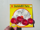 Vintage 1970s sidewalk skateboard surfboard skater wheels ruby red nice Nash nos