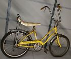 1974 Schwinn Stingray Fair Lady 3 Speed Gripper Slik Bicycle as-is