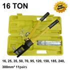 16 Ton 185 Hydraulic Wire Terminal Crimper Crimping Tool Pliers Set w 11 Dies