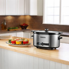 KitchenAid 6-Quart Stainless Steel Oval Digital Programmable Slow Cooker w/ Lid