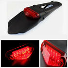 Waterproof 12LED Motorcycles Scooter Fender Brake Light Tail Indicator Lamp Red