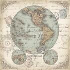 World Hemispheres II by Tre Sorelle Studios Poster Frame 25 x 25 x 1.5 in.