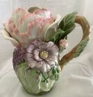 Fitz & Floyd Fauna and Flora Pitcher New In Box Retired