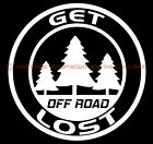 Get Lost 4 inch Circle Funny Decal for Jeep enthusiaststruckoff road4X4