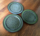 3 FRANCISCAN EARTHENWARE MADEIRA DINNER PLATES *EXCELLENT*