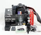 Canon EOS 50D 151MP Digital SLR Camera Body and Accessories Shown