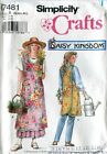 UNCUT Simplicity Cross Back Wrap Apron 7481 Daisy Kingdom S M L XL - 2 lengths