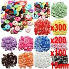 300x Resin Buttons Mixed colors craft Scrapbook sewing 2 Holes Round 15mm