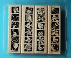 Stampin Up BOLD AND BRIGHT Rubber Stamp Set Party Fish Insects Baby Border