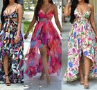 Womens Summer Long Maxi Dress Chiffon Skirt Slip dress Beach Dresses US Stock