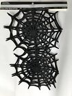 HALLOWEEN Table Runner Black Spider Webs CELEBRATE IT 36 IN x 118 NEW
