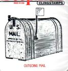 New CLING Deep Red Rubber Stamp Vintage Mailbox flag up mail Free us ship