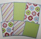 Premade SEWN Scrapbook Page Mat Set ALL OCCASION LOT 6 6 pieces