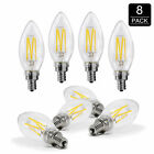 40W Equivalent2700K Daylight Dimmable Warm Chandelier LED Bulbs E12 Candelabra