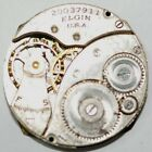 ART DECO ELGIN POCKET WATCH MOVEMENT DOUBLE ROLLER 27mm FOR PARTS REPAIRS P705