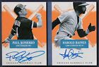 HAROLD BAINES KONERKO #01 05 DUAL ON CARD AUTO 2013 AMERICA'S PASTIME WHITE SOX