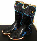 10 Wide mens Ariat 13 Catalyst VX Thunder Cowboy Motorcycle Boots Black Leather