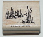 ROCK GRASS NATURE SCENE STAMP STAMPIN UP WOOD MOUNT RUBBER STAMP