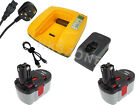 2X 3Ah battery for Bosch GBH 24v 52324B Cordless Hammer Drill SDS Plus + charger