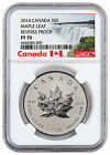 2014 Canada 1 oz Silver Maple Leaf Reverse Proof 5 NGC PF70 Excl Label SKU45731