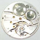 COLONIO WALTHAM POCKET WATCH MOVEMENT 17 JEWELS 38mm FOR PARTS REPAIRS #P824