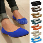 Women Casual Slip on Loafers Flat Dolly Sweet Shoes Ballet Ballerina Soft Flats
