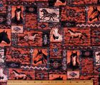SNUGGLE FLANNELSOUTHWEST HORSE PATCHWORK DESIGN  100 Cotton Fabric BTY