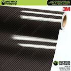 3M REAL D 20 HIGH GLOSS BLACK CARBON FIBER Vinyl Wrap Film Sheet Roll Adhesive
