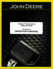 JOHN DEERE  2020A  2030A  ProGATOR UTILITY VEHICLES  OPERATOR'S MANUAL jd