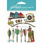 Jolees Boutique Dimensional Scrapbooking Stickers Archery Arrows Hunting Target