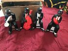 Set of 4 Vintage Black Americana Ceramic Figurine  Jazz Band
