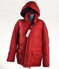 NWT ASPESI Bright Red Nord Hooded Down Parka Classic Fit L Coat Jacket
