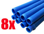Universal Automatic Suction Pool Cleaner Replacement Hose BLUE COLOR 8PK 15