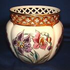 Zsolnay Pecs Hand Painted Reticulated Vase