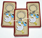 12 X BABY SHOWER KEY CHAINS PARTY FAVORS BLUE STORK LLAVEROS 12 RINGS BABY rdbox