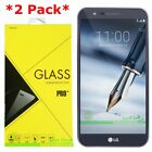 2 Pack Premium Tempered Glass Screen Protector For LG Stylo 3 Plus T Mobile