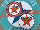 TEXACO PETROLEUM - 1936 STAR  porcelain coated 18 GAUGE steel SIGN SET