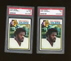 Lot of (2) 1979 Topps Football #390 Earl Campbell RC Rookie HOF Oilers PSA 7 NM