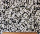 SNUGGLE FLANNELMONEY MONEY MONEY on BLACK100 Cotton FabricNEW BTY