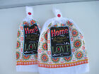 2 Hanging Kitchen Dish Towels With Crochet Tops Our Home Is Made With Love