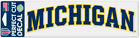 NCAA University of Michigan Wolverines 3x10 inch Arched Decal Sticker NEW