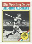1976 TOPPS BASEBALL #341 LOU GEHRIG ALL-TIME ALL-STARS - NEAR MINT-