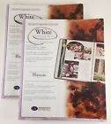 Lot Of 2! Creative Memories 8.5x11 White Scrapbook Refill 30 Sheets 60 Pages