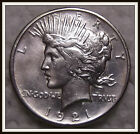 1921 1 Peace Dollar XF+ High Relief