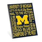 MICHIGAN WOLVERINES GO BLUE BIG HOUSE WOOD EASEL SIGN 8x10 BRAND NEW WINCRAFT