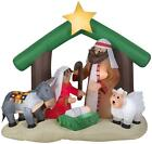 Gemmy 6 Airblown Holy Family Nativity Scene Christmas Inflatable